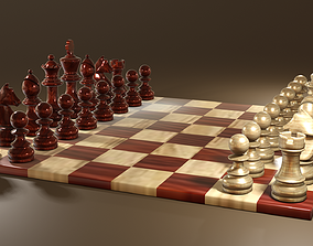 Chess Set Classic 3D asset