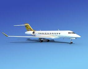 Global Express XRS Business Jet 3D model