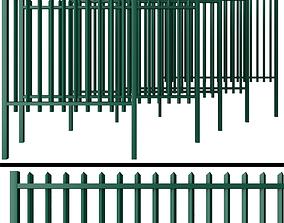 Metal Wicket fence 3D model