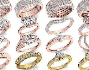 Fancy Bulk Collection Diamond Ring 3D model