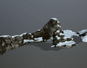 3D asset realtime snow rocks