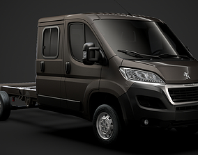 Peugeot Manager Chassis Truck Crew Cab 4035WB 3D model