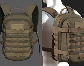 3D model Backpack Camping Generic military baggage Color