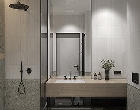 3D Interior Set 4 Two bathrooms
