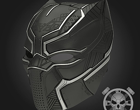 Black panther helmet from Captain America 3D print model 1