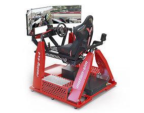 3D model Racing Game Simulator motion sim