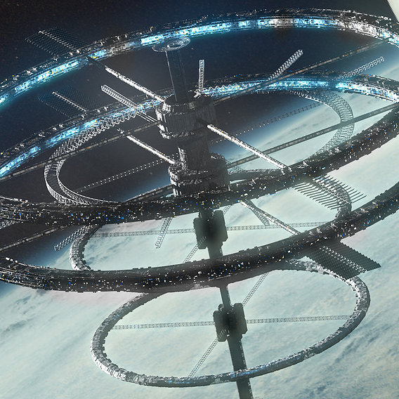 Sci Fi Space Station Earth 2.0