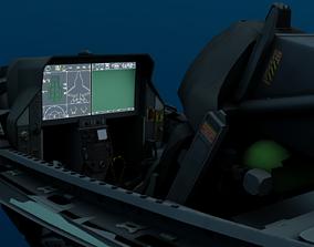 3D model F-35 Cockpit