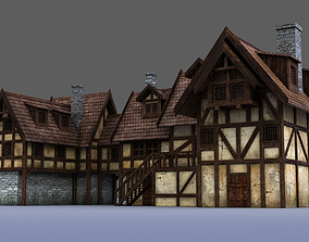 downtown medieval house 3D