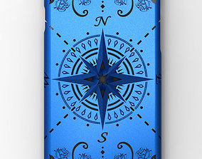 3D printable model iPhone 6 case compass rose