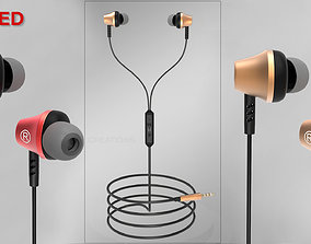 realtime Wired Earphone 3d model product