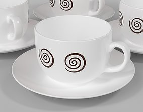 Cup and saucer for 3D printing