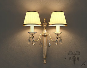 Masiero 6020 A2 wall lamp 3D