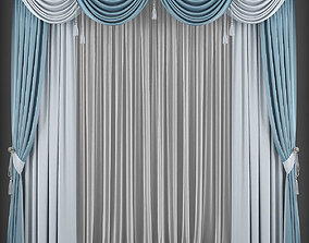 low-poly Curtain 3D model 207