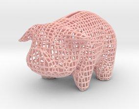 Wire Piggy Bank 3D printable model malla