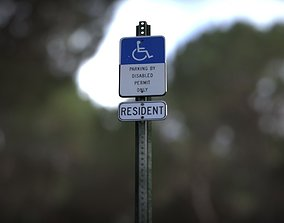 3D Disabled Handicapped Parking Sign