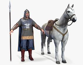 3D asset Medieval Russian Knight