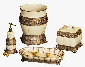 Chalmette Elegant Bath Accessories 3D model