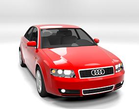 3D model AUDI A4 2001 4D LOWPOLY