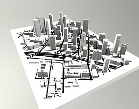 3D model Downtown Los Angeles