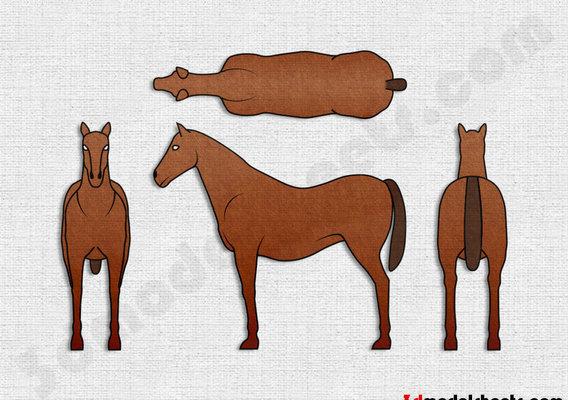 Horse Blue print