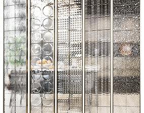 Glass block partition 5 3D