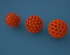 Virus shapes 3D printable model