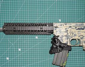 3D printable model M4 skull magwell