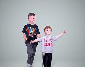 Two Child Boys CBoy0202-HD2-O01P01-S 3D model