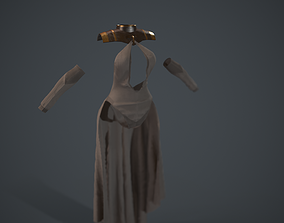 3D asset Dress with sleeves