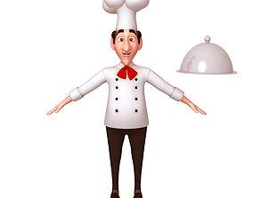 cook 3D model Chef Cartoon
