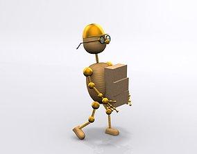 3D model Wood man