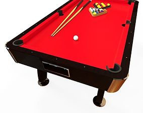 classic american pool table 3D model