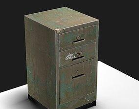 Painted Old Steel Cabinet 3D steel