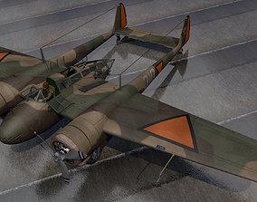 3D Fokker G-1 Faucher