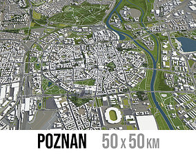Poznan - city and surroundings 3D model