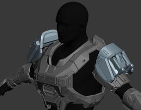 Reach EVA Shoulder Wearable 3D Print Model
