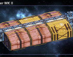 3D model Spaceship Freighter MK II