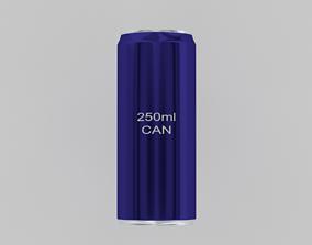202- 250ml Aluminium Drinks Can 3D model