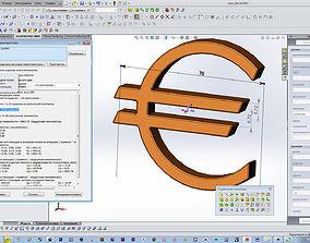euro dollar emblem 3D printable model