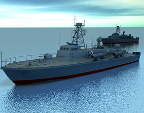 Torpedo Boat 3D model boat