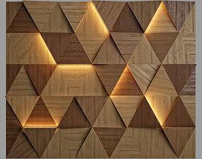 3D Wall Panel 7 wood