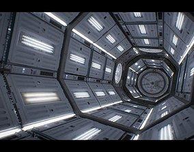 The Martian corridor 3D model animated