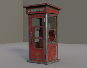3D model Phone Booth