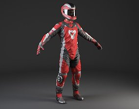 3D Motorcycle Rider - Rigged