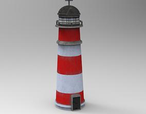 Low Poly Lighthouse 3D model VR / AR ready