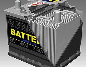 Generic Car Battery Full Interior 3D model