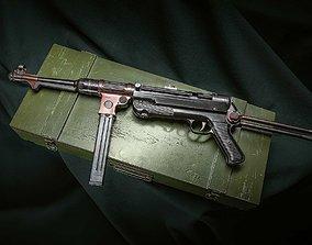 3D asset MP38 assault rifle