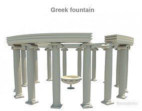 Greek fountain 3D model