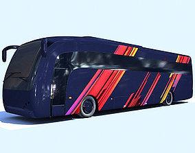 autobus Blue Colorful Bus 3 3D model